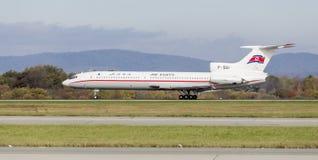 Passagierflugzeuge Tupolev Tu-154 von Air Koryo Nordkorea landet Luftfahrt und Transport stockfotografie