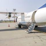 Passagierflugzeugpropeller Lizenzfreies Stockbild