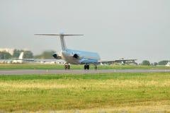 Passagierflugzeugstart Lizenzfreies Stockfoto