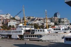 Passagierkreuzfahrt in Istambul-Hafen Lizenzfreies Stockbild