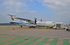 Passagierpropellerflugzeuge Aktiengesellschaft Bangkok Airwayss begrenzte lizenzfreie stockfotografie