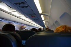 Passagiers aan boord Stock Foto