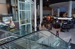 Passagiers bij de Internationale Luchthaven van Auckland Stock Afbeelding