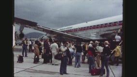 Passagiers in Kai Tak Airport stock footage