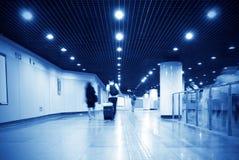 Passagiers in metroposten royalty-vrije stock fotografie