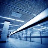Passagiers in metroposten royalty-vrije stock foto