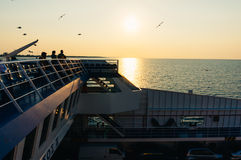 Passagiers op een veerboot Royalty-vrije Stock Foto's