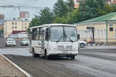 Passagiersbus PAZ 4234 royalty-vrije stock foto's