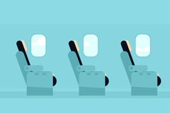 Passagierscabine van de vliegtuigen Stock Afbeelding