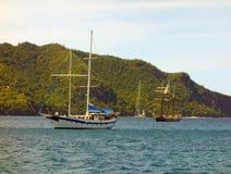 Passagierschiffe in den Karibischen Meeren Stockfotografie