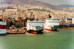 Passagiershaven Piraeus, Athene Royalty-vrije Stock Foto