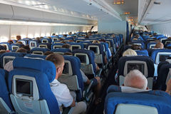 Passagierslijnvliegtuig Stock Foto