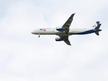 Passagiersluchtbus A321-231 Ural Airlines Stock Afbeeldingen