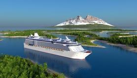 Passagiersschip Royalty-vrije Stock Afbeelding
