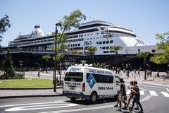 Passagiersterminal overzee, Sydney Stock Afbeeldingen