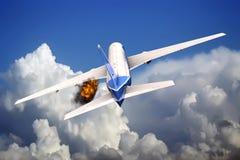Passagiersvliegtuig Stock Afbeeldingen