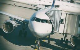 Passagiersvliegtuig royalty-vrije stock foto's