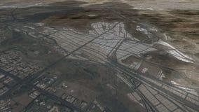 Passagiersvliegtuig die van Makkah en de heilige plaatsen vliegen vector illustratie