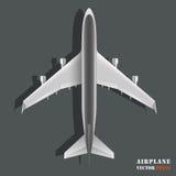 Passagiersvliegtuig op witte achtergrond wordt geïsoleerd die Stock Afbeelding