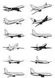 Passagiersvliegtuig in perspectief vector illustratie