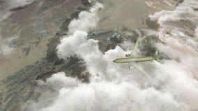 Passagiersvliegtuig van Makkah en de heilige plaatsen die aan Jeddah vliegen royalty-vrije illustratie