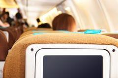Passagierszetels op het vliegtuig Stock Foto
