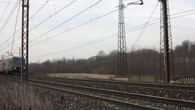 Passagierzug stock video