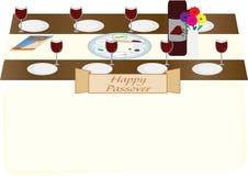 Passahfest-jüdische Feiertagstabelle lizenzfreie abbildung