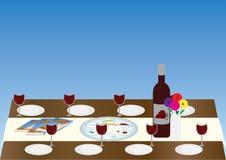 Passahfest-jüdischer Feiertags-Sedertisch stock abbildung