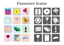 Passahfest-jüdischer Feiertagsikonensatz vektor abbildung
