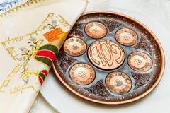 Passahfestfeiertag des Sedertellers Vor Lizenzfreie Stockbilder