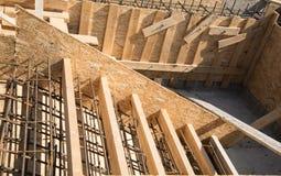 Passande och träformworks av trappa Royaltyfri Foto