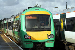 Passando trens Imagens de Stock Royalty Free
