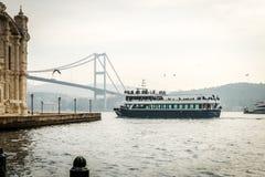 Passanger ship near Ortakoy in Istanbul, Turkey Stock Photo