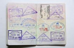 Passaporte foto de stock