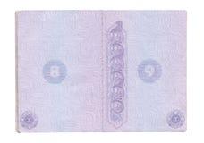 Passaporte aberto do russo Foto de Stock