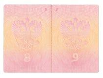 Passaporte aberto isolado do russo Imagem de Stock