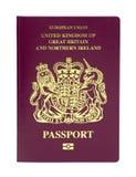 Passaporte biométrico de Reino Unido fotos de stock royalty free