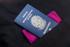 Passaporte brasileiro fotos de stock