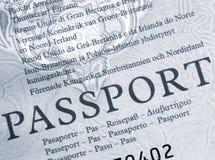 Passaporte britânico Fotografia de Stock