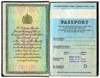 Passaporte britânico velho Imagem de Stock Royalty Free