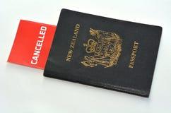 Passaporte cancelado de Nova Zelândia foto de stock royalty free