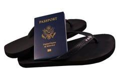 Passaporte com falhanços da aleta Foto de Stock Royalty Free