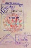 Passaporte com visto e selos tailandeses imagens de stock royalty free
