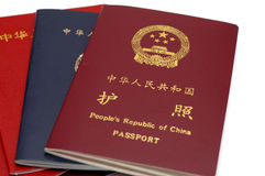 Passaporte de China Imagem de Stock Royalty Free