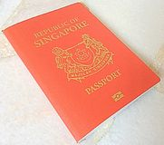 Passaporte de Singapura Fotos de Stock Royalty Free