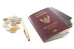 Passaporte de Tailândia Fotos de Stock Royalty Free