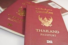 Passaporte de Tailândia fotografia de stock