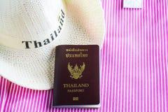 Passaporte de Tailândia imagens de stock royalty free
