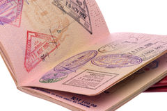 Passaporte e vistos Imagem de Stock Royalty Free